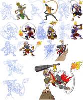 Character Development: Hanoman by BongzBerry