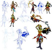 Character Development: Srikandi by BongzBerry