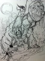 Quick Doodle: John Carter, Warlord Of Barsoom by BongzBerry
