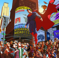 Welcome to Metropolis, son of Jor-El... WIP by BongzBerry
