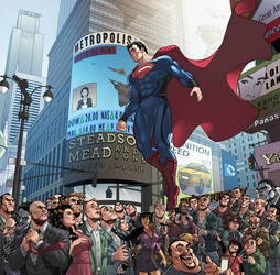 Welcome To Metropolis, Man Of Steel by BongzBerry
