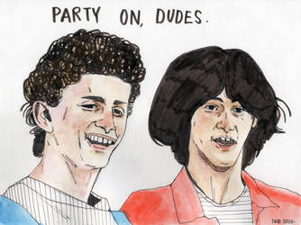 Bill and Ted by lawlosaur