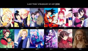 2018 Art summary: Lady Yomi! by LadyYomi