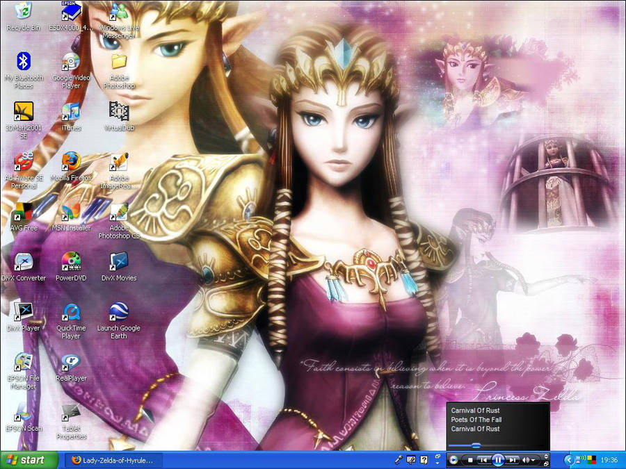My Desktop - Princess Zelda by Lady-Zelda-of-Hyrule
