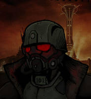 Fallout NCR Ranger Coloured by SirDanielsArt
