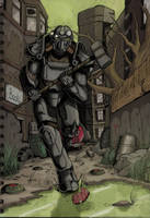Fallout 4 - Downtown Boston Coloured by SirDanielsArt