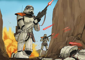 Star Wars - Ambushed Troopers (Timelapse) by SirDanielsArt