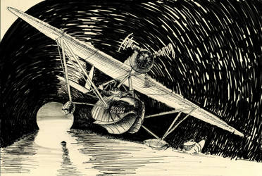 frog in seaplane 'drawing for the son' by lnago