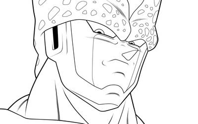 Perfect Cell. :Lineart: by moxie2D