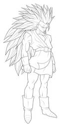SSj3 Gohan - Thick. :Lineart: by moxie2D