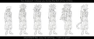 All Forms of Broly - P1. :WIP: by moxie2D
