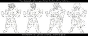 All Forms of Broly - P2. :WIP: by moxie2D