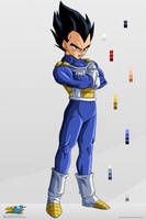 Vegeta. :Commission: by moxie2D