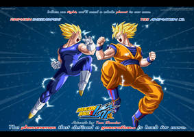 Dragonball Kai - Goku V Vegeta by moxie2D