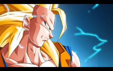 Super Saiyan 3 Goku by moxie2D