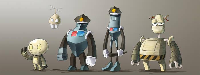 Robots by moxie2D