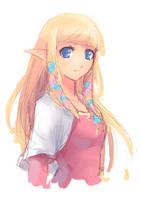 Skyward Sword - Zelda :Sketch: by moxie2D