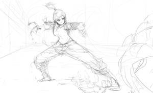 Korra Airbending :Concept Sketch: by moxie2D