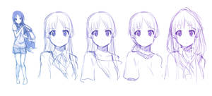 Mio-chan :Sketches: by moxie2D