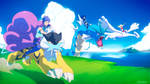Pokemon Mounts :Commission: by moxie2D