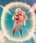 SSj3 Goku :Commission: by moxie2D