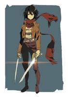 Day 9 | Mikasa Ackerman by moxie2D