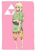Day 19   Zelda in Link's Clothes by moxie2D