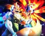 Super Smash Calendar 2017 | Fox and Falco by moxie2D