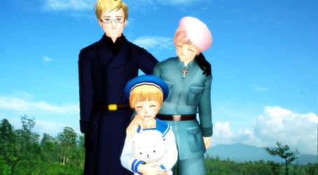 Hetalia MMD - Hanatamago Family by YuMoriChii