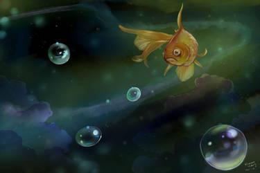 Cosmic goldfish by heylorlass