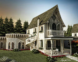 wooden art _ country _ exterior view by hayriyepinar