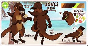 JONES ref | secondary fursona by vintagecoyote