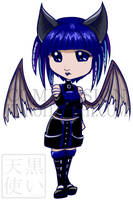 Commission Chibi Bat Girl by kuroitenshi13