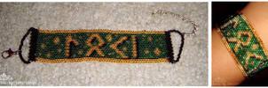 SOLD Loki in Germanic Futhark SOLD by kuroitenshi13