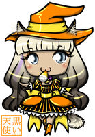 Halloween Chibi Commission Embers by kuroitenshi13