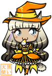 Halloween Chibi Commission Embers by kuroitenshi13