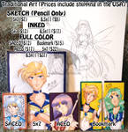 Traditional Commission Prices: OPEN by kuroitenshi13