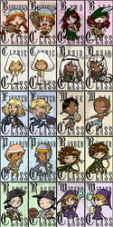 Large DnD Badges Complete Set by kuroitenshi13