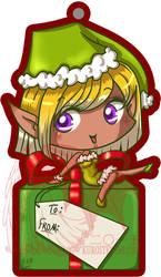 Christmas Tag Girl by kuroitenshi13