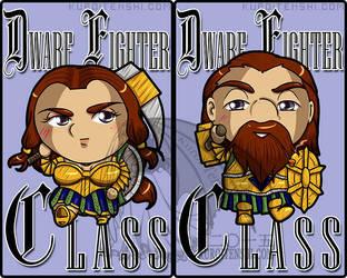 Dwarf Fighter Class Badge by kuroitenshi13