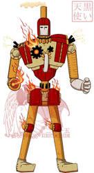 Aes: Brass Revolution Fire Robot by kuroitenshi13