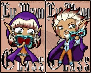 Elf Wizard Class Badge by kuroitenshi13