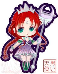 Soft Chibi Titan with Staff Updated by kuroitenshi13