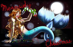 Mermaidy Christmas by kuroitenshi13