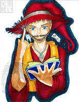 The Red Wizard Traditional by kuroitenshi13