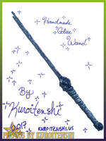 SOLD Wand of Silent Watching by kuroitenshi13