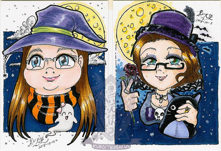 Halloween ATC Avatars by kuroitenshi13
