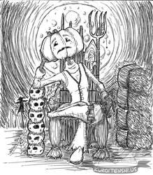Pentober Pumpkin Head by kuroitenshi13