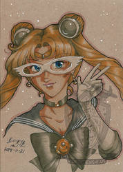 Toned Paper Sailormoon by kuroitenshi13