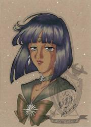 Toned Paper Sailorsaturn by kuroitenshi13